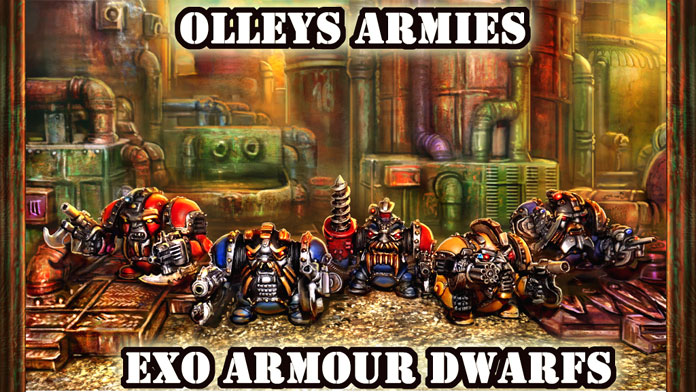 Kickstarter Four Exo Armoured Dwarves