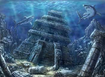 james olley enviroment ancient sunken temple for anti matter games