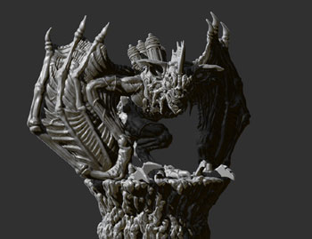 james olley flying horror sculpt