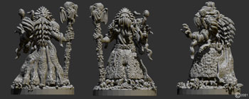 james olley concept artist, character sculpt for antimatter games