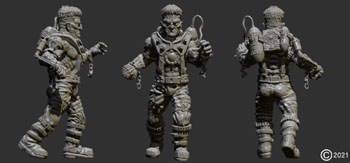 james olley reanimated character sculpt for  antimatter games