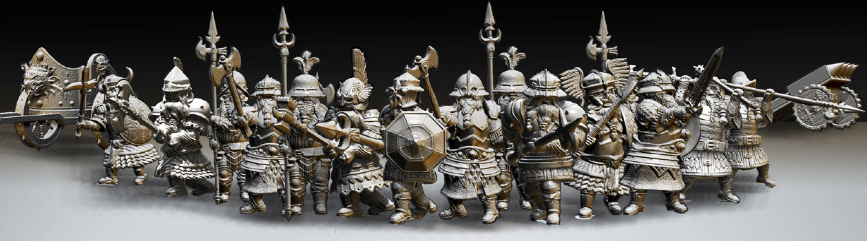 james olley groupshot dwarf sculpts for olleysarmies