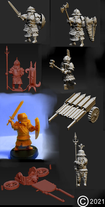 james olley concept artist,groupshot dwarf sculpts for olleysarmies