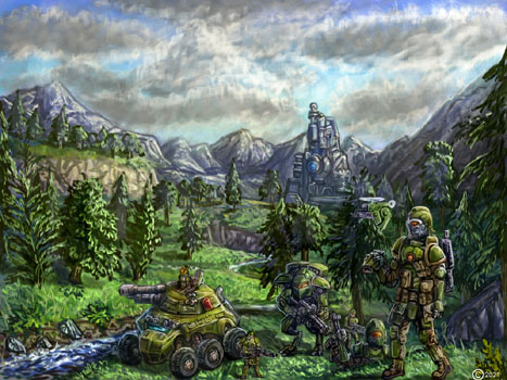 james olley enviroment sci fi army