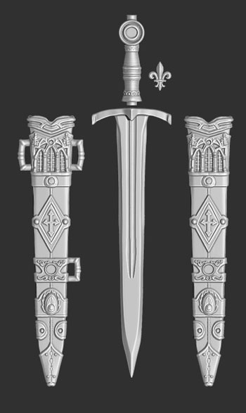 james olley concept artist short broad sword weapon concept sculpt
